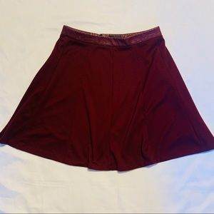 The Limited A Line Maroon Skirt